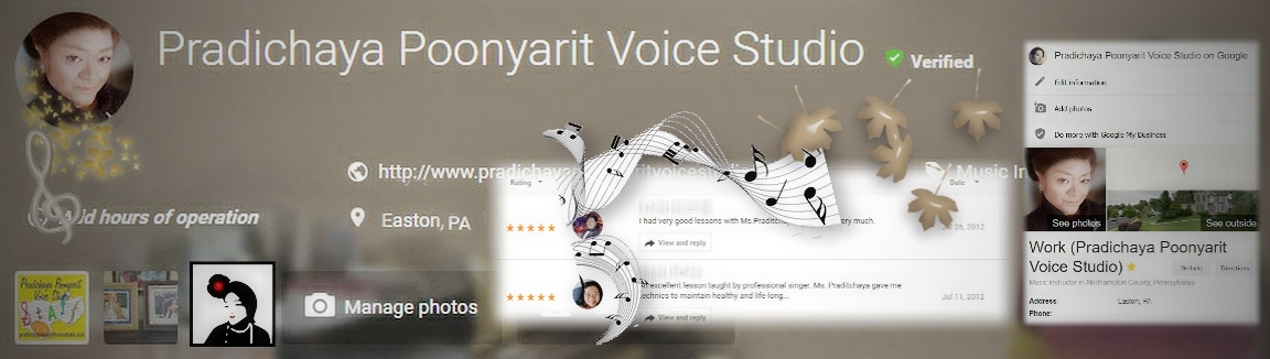 Pradichaya Poonyarit Voice Studio | Lehigh Valley, Easton, PA